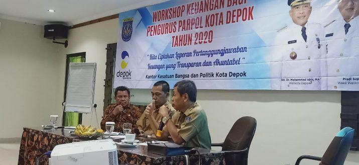 Ciptakan LPJ Transparan & Akuntabel, Kesbangpol Gelar Workshop Keuangan Pengurus Parpol
