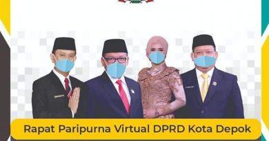 Dampak Covid-19, DPRD Depok Gelar Paripurna Virtual